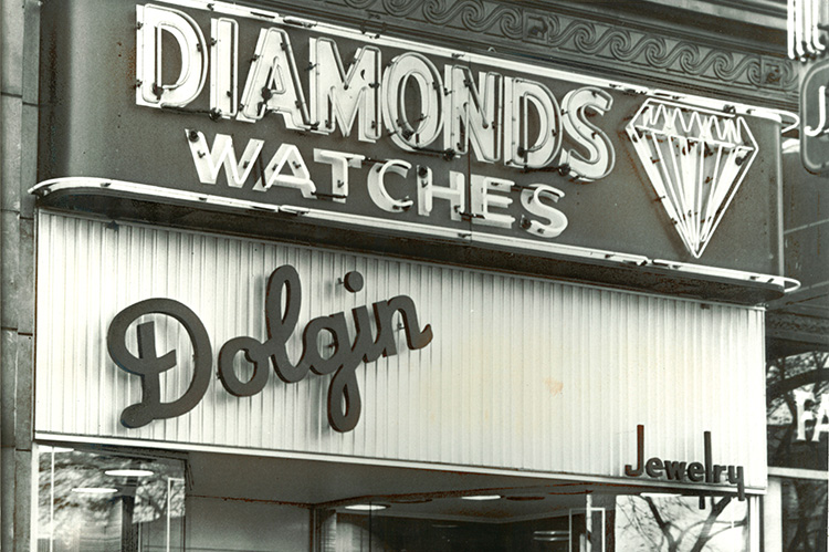 Diamond Watches, Aaron Dolgin's original jewelry shop