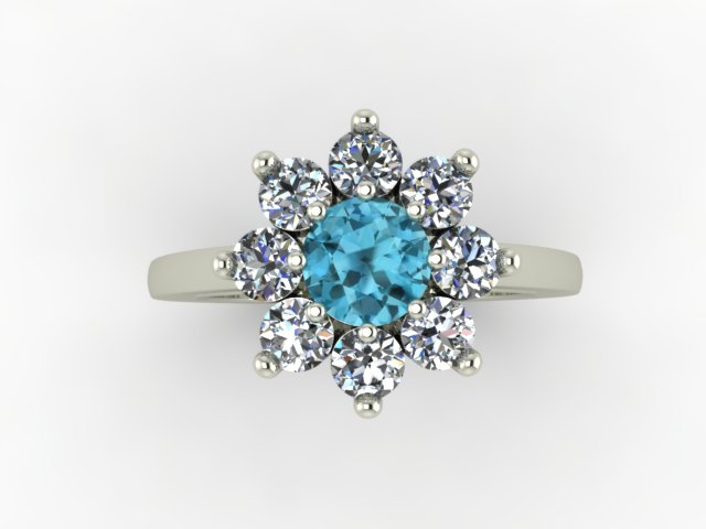 Zircon and diamond ring